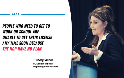 BC Liberal candidate Cheryl Ashlie disappointed by inaction from NDP government on ICBC