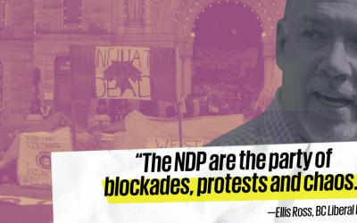New candidate confirms NDP are the party of blockades & protests