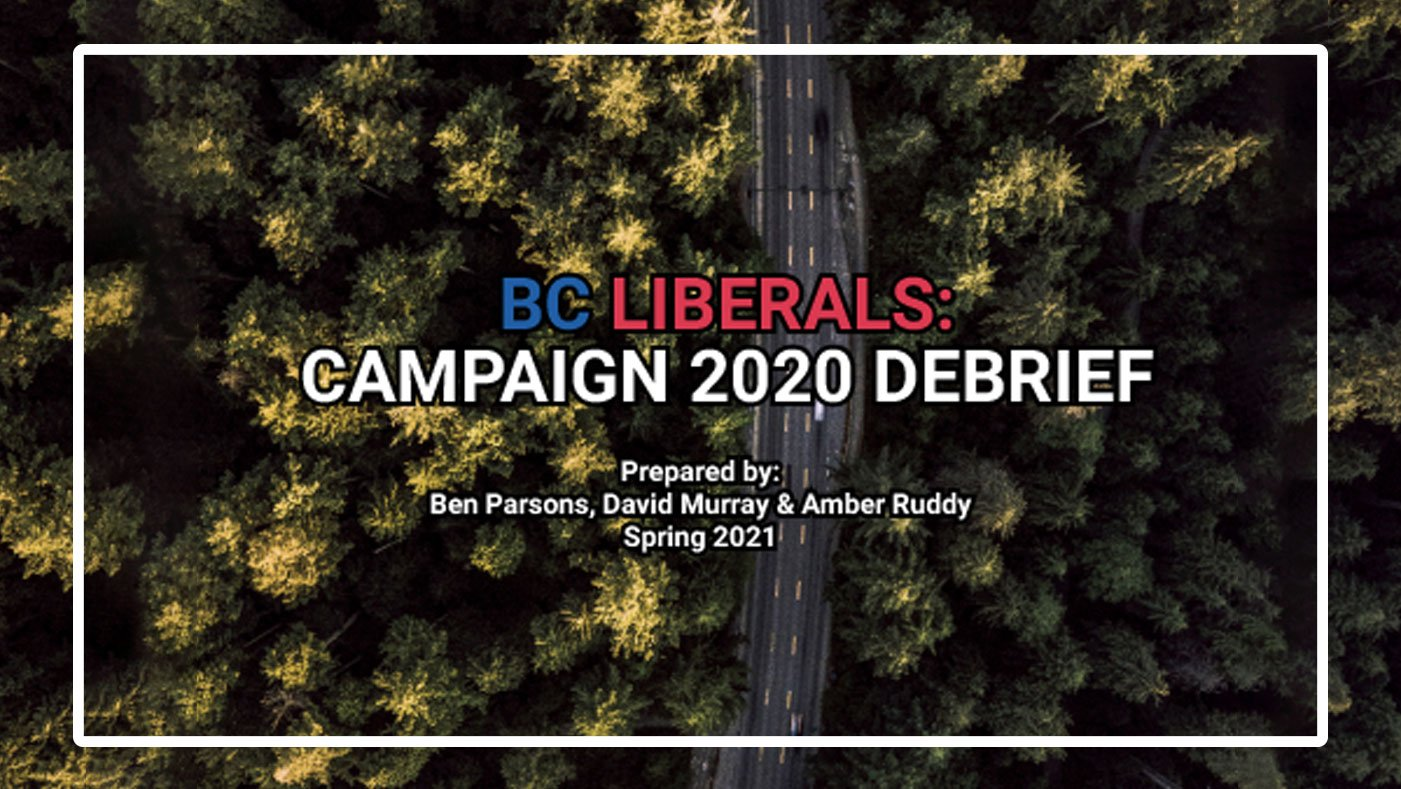 BC Liberal Party 2020 Election Campaign Report